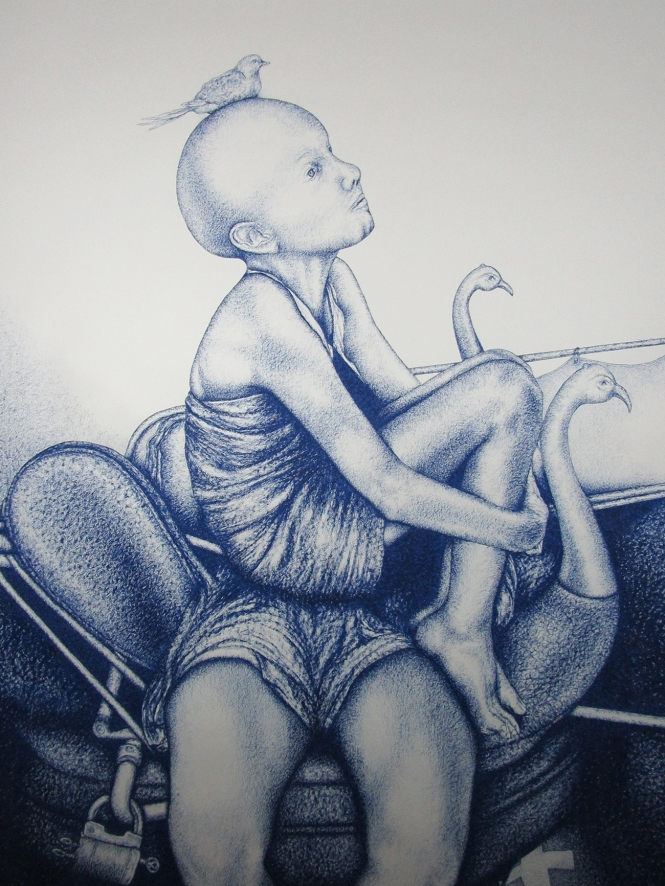 s Innocence, 100x140cm, Oelpastel on Paper on Canvas, 5500 Euro - Copy