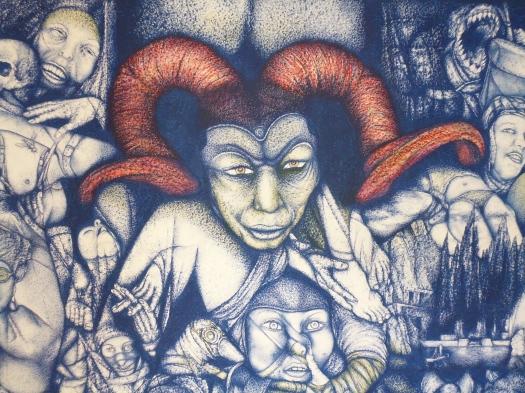 Titel -Time-Jam II, 150cm x 280cm, Oelpastel, Acryl, Lack on Paper on Canvas, 15000 Euro